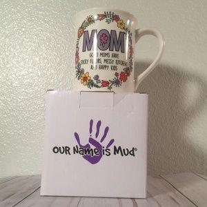 NIB Best Mom coffee mug white purple with flowers